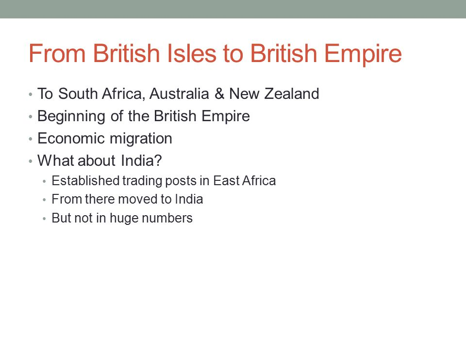 From British Isles to British Empire