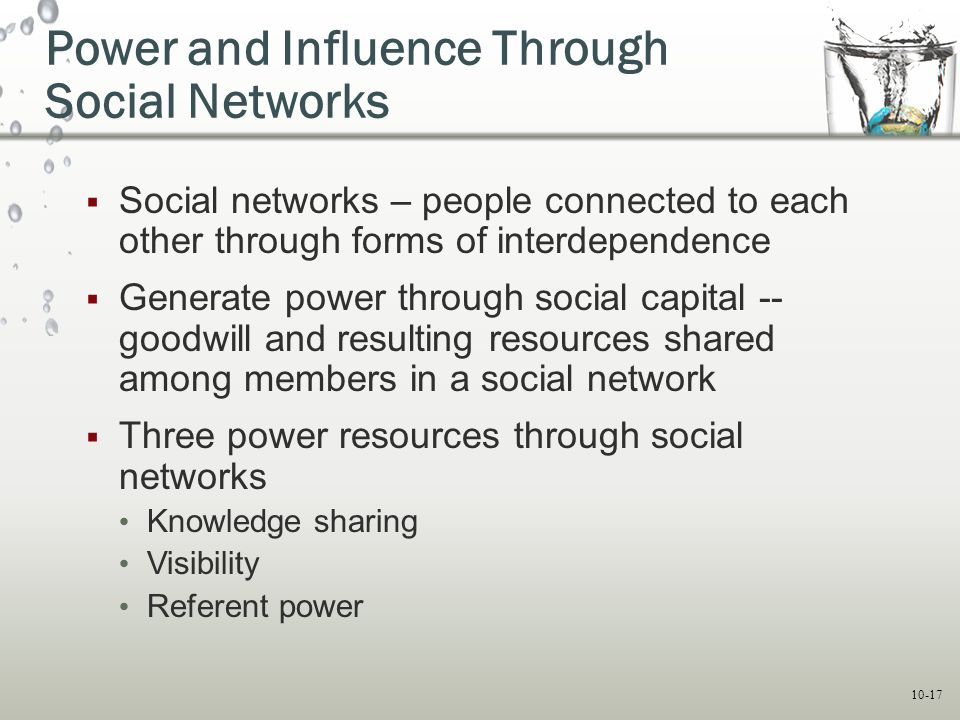 Power and Influence Through Social Networks