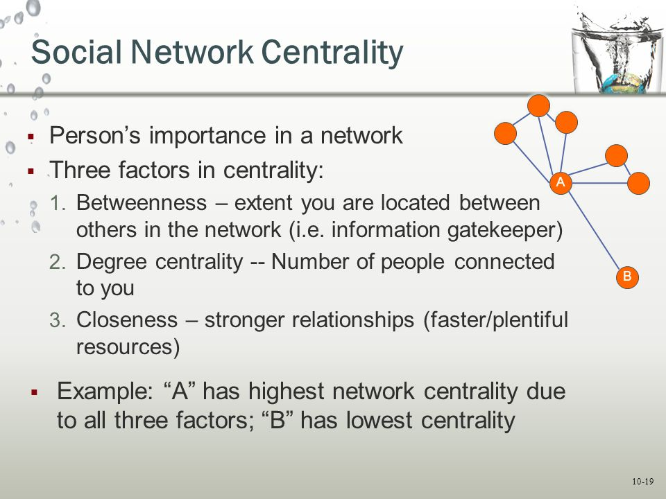 Social Network Centrality