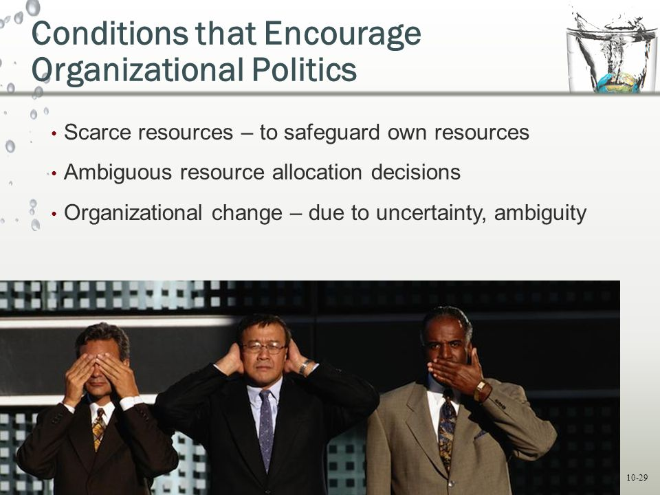 Conditions that Encourage Organizational Politics