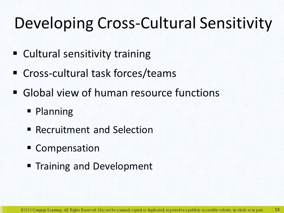 Developing Cross-Cultural Sensitivity