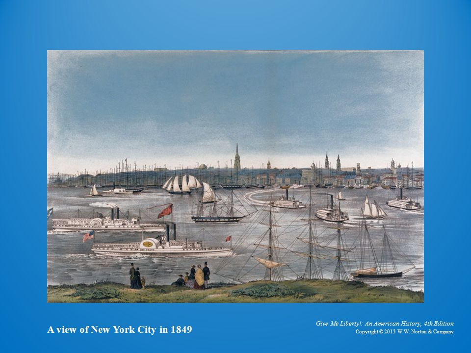 Lithograph of New York City