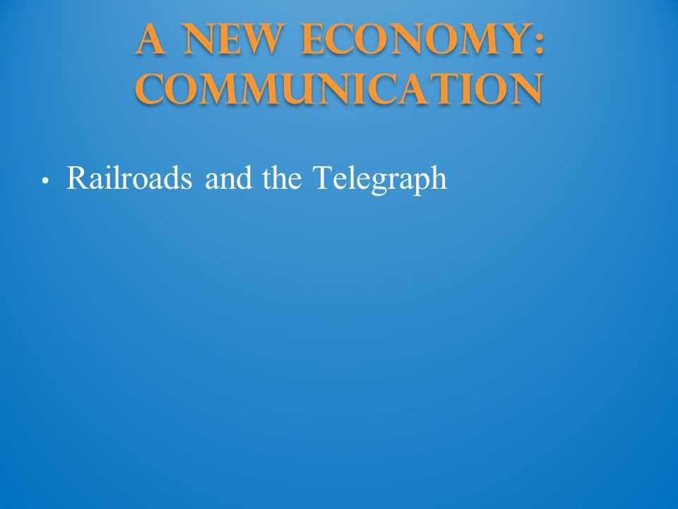 A New Economy: Communication