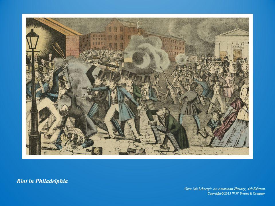 Lithograph Riot in Philadelphia