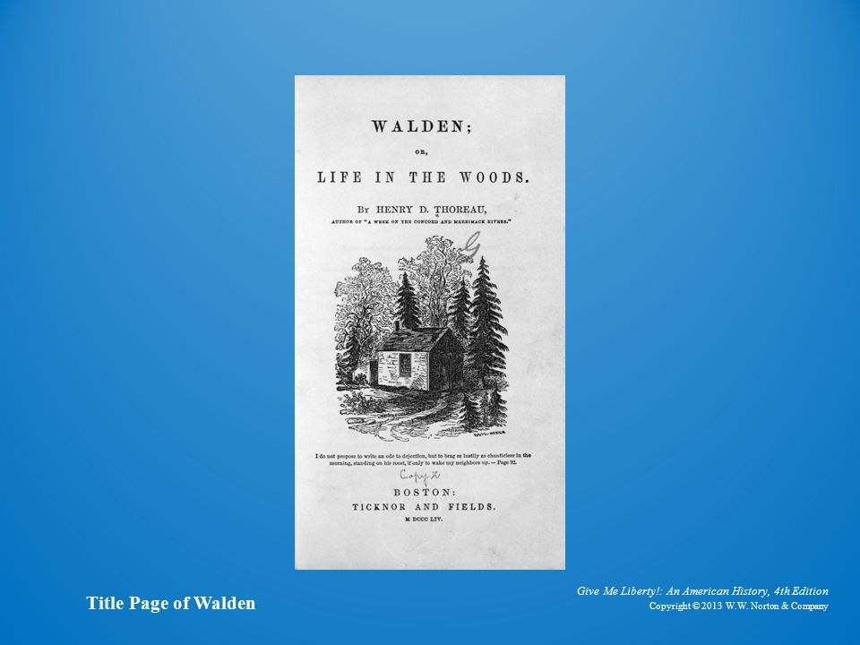 Title Page of Walden Title Page of Walden