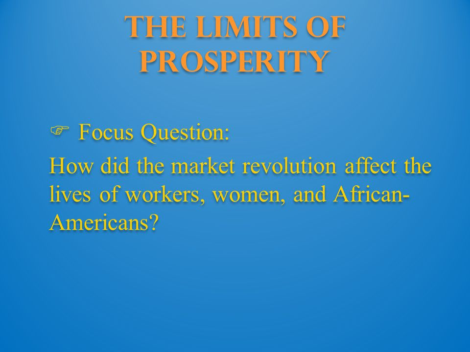 The Limits of Prosperity