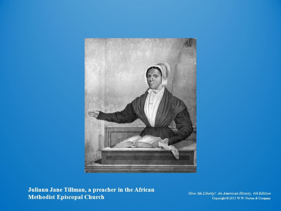 Engraving of Black Female Preacher