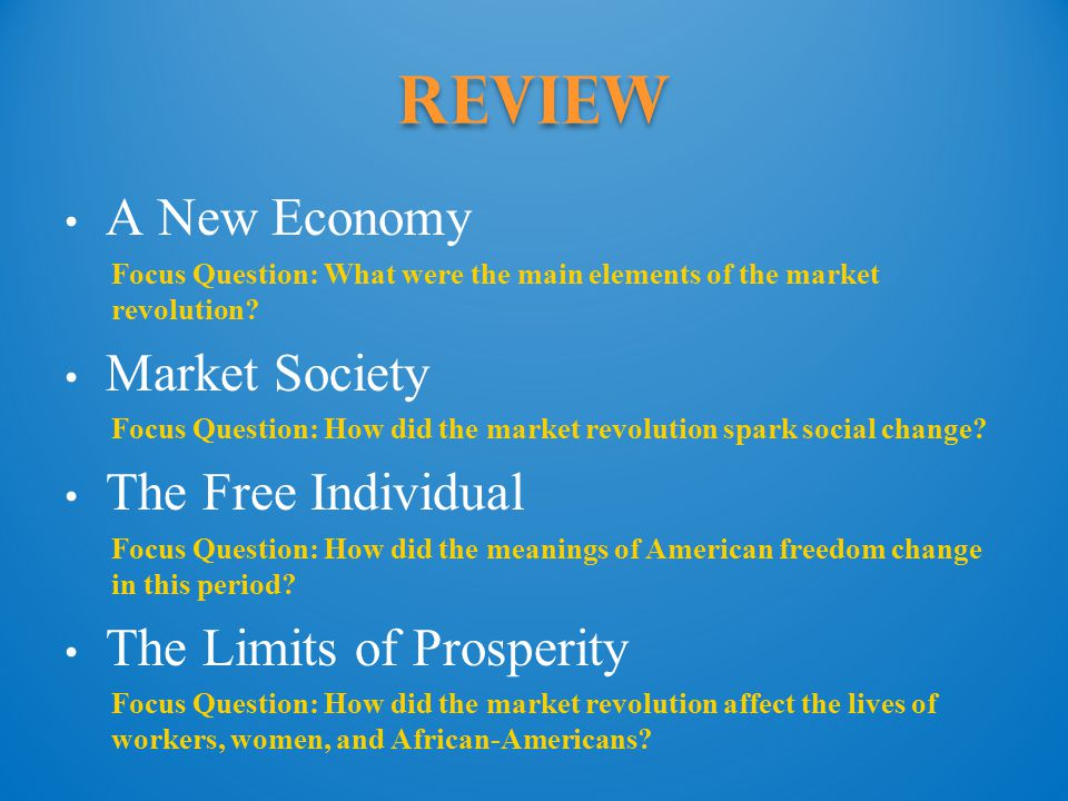 Review A New Economy Market Society The Free Individual