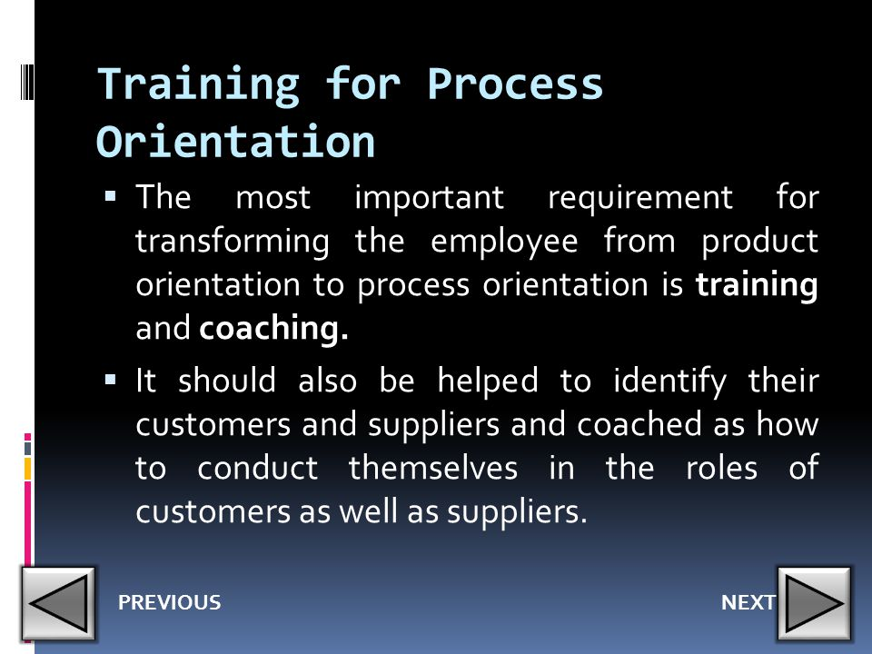 Training for Process Orientation