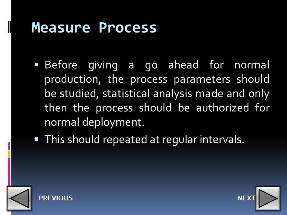 Measure Process
