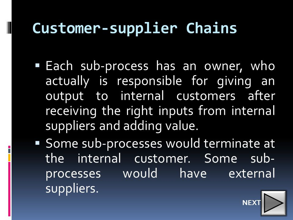 Customer-supplier Chains