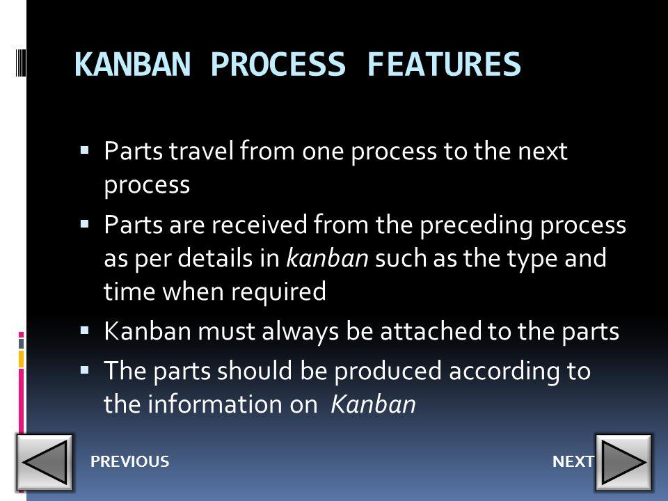 KANBAN PROCESS FEATURES