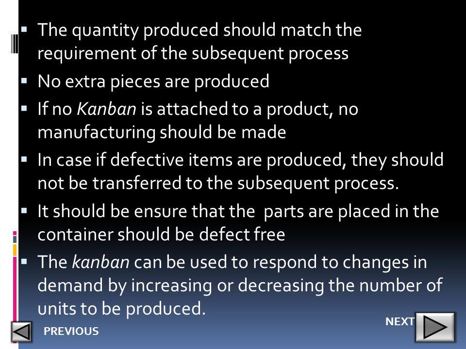 No extra pieces are produced
