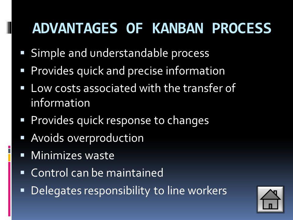 ADVANTAGES OF KANBAN PROCESS