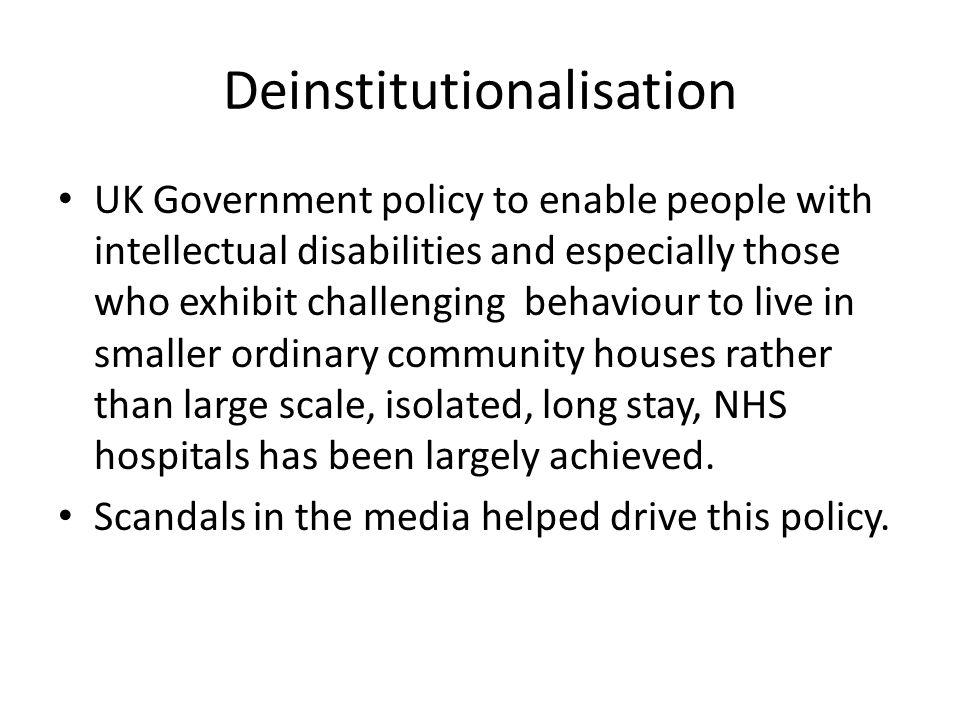 Deinstitutionalisation