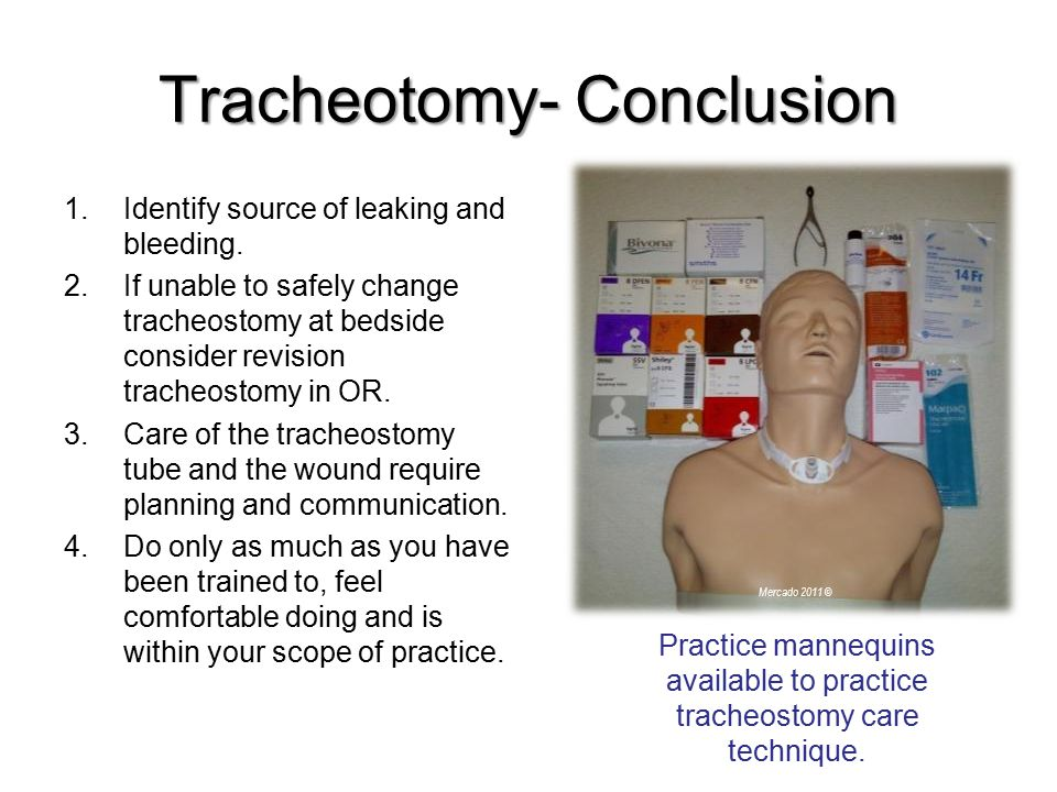 Tracheotomy- Conclusion