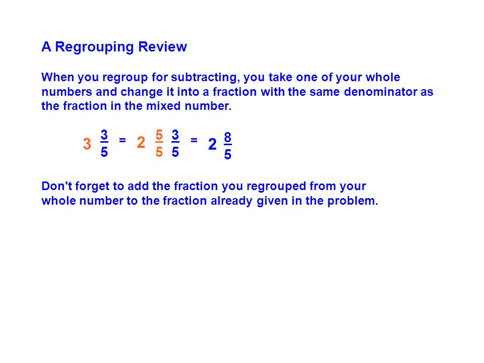 A Regrouping Review