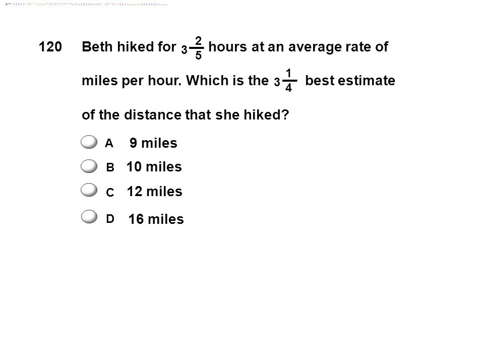 Beth hiked for hours at an average rate of