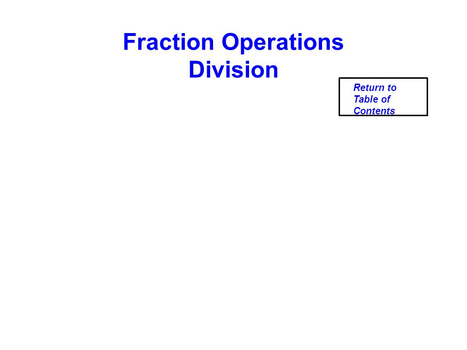Fraction Operations Division