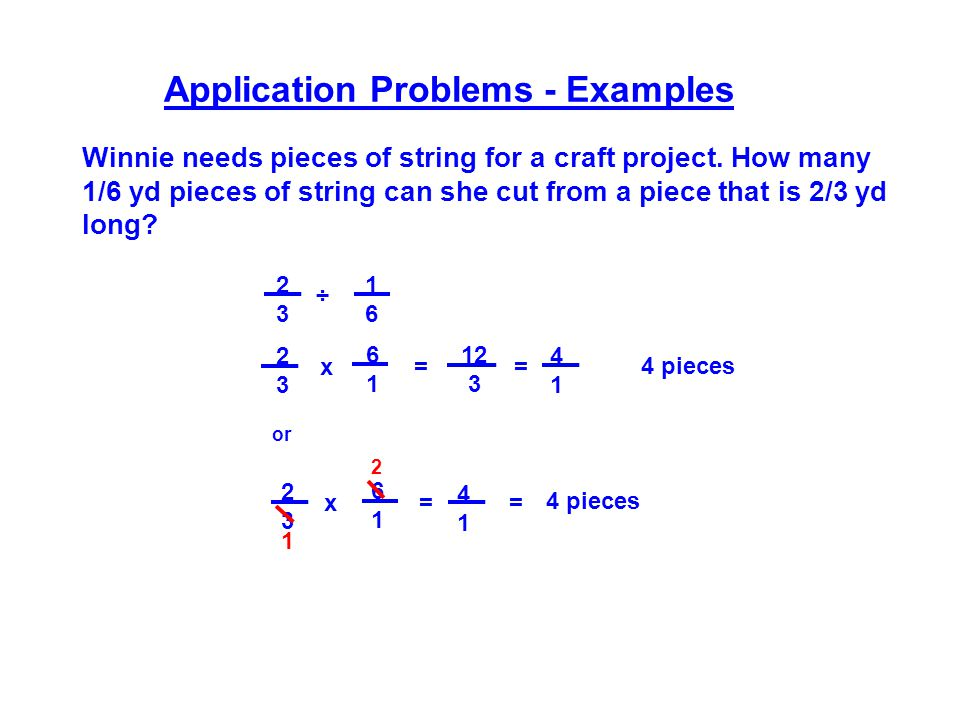Application Problems - Examples