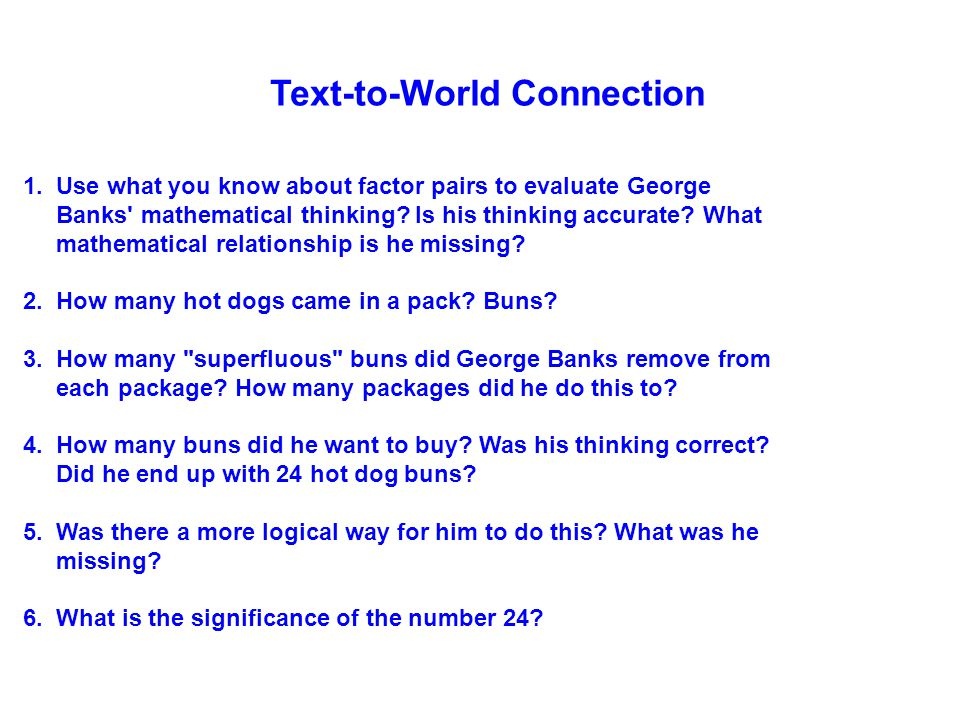 Text-to-World Connection