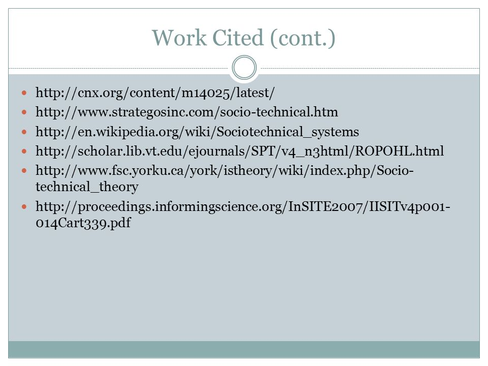 Work Cited (cont.) http://cnx.org/content/m14025/latest/