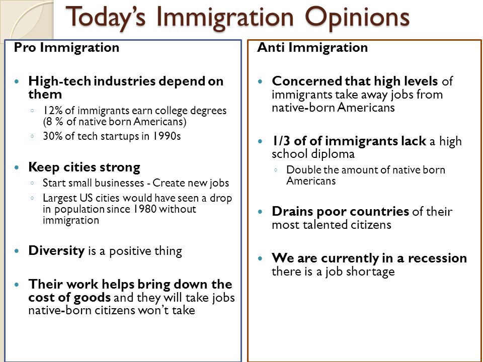 Today's Immigration Opinions