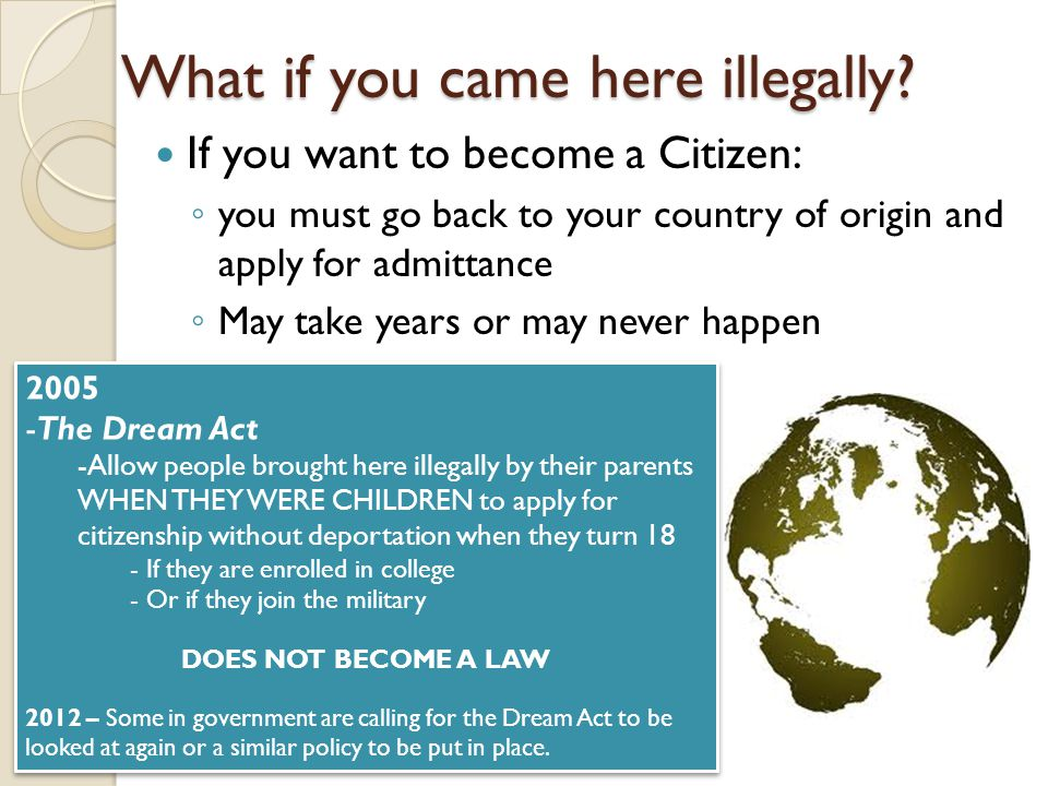 What if you came here illegally