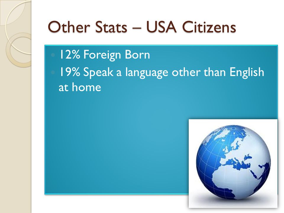 Other Stats – USA Citizens