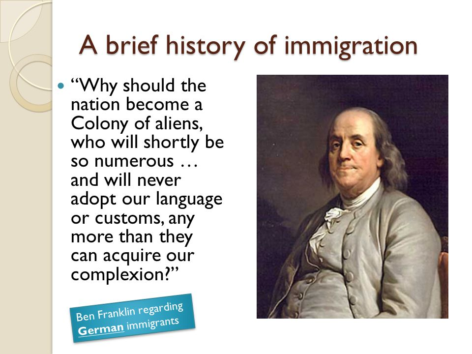 A brief history of immigration