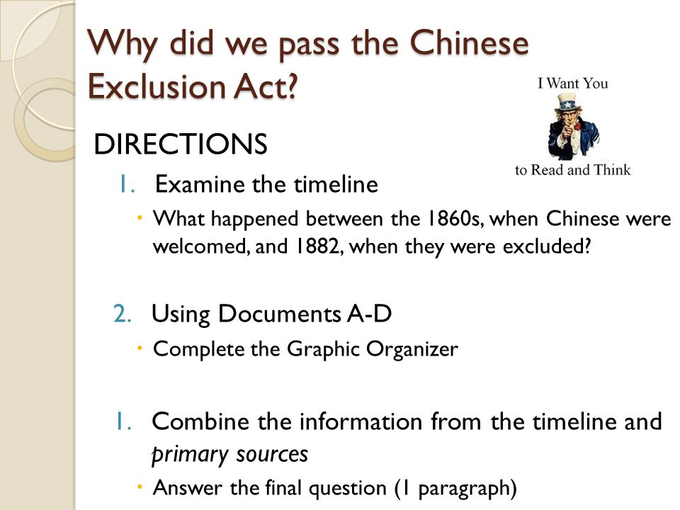 Why did we pass the Chinese Exclusion Act