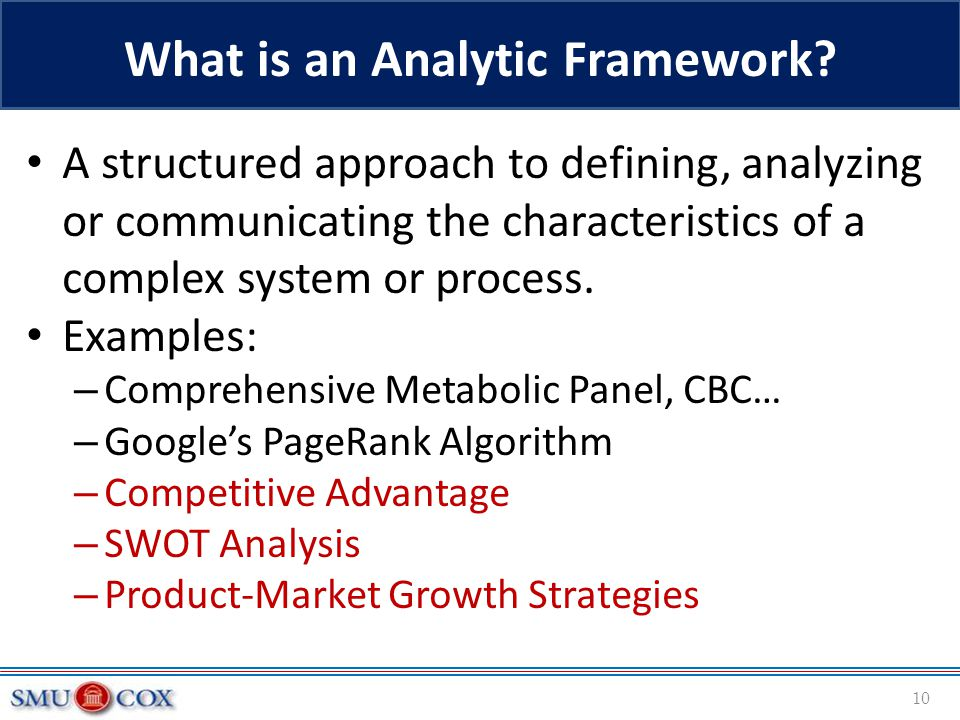 What is an Analytic Framework