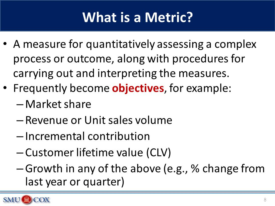 What is a Metric