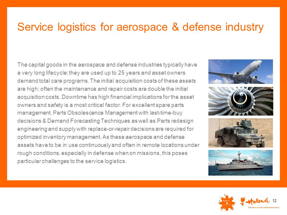 Service logistics for aerospace & defense industry