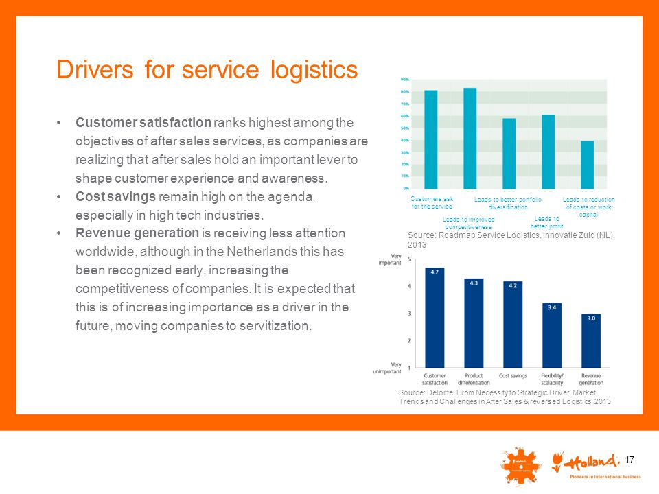 Drivers for service logistics