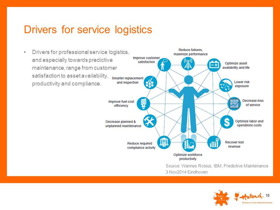 Drivers for service logistics
