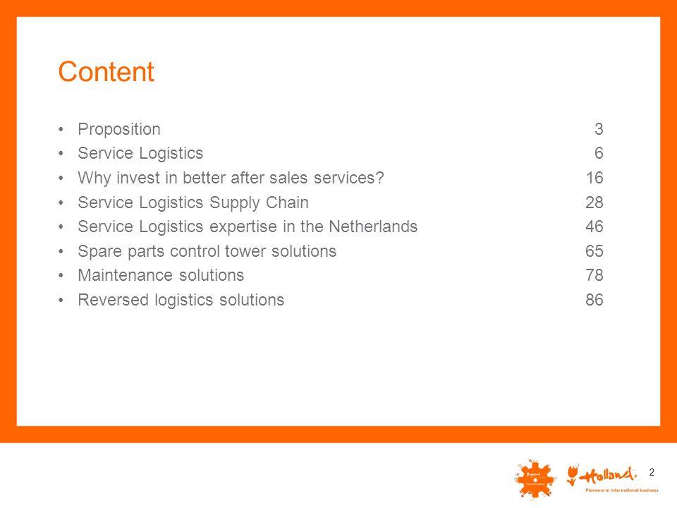 Content Proposition Service Logistics