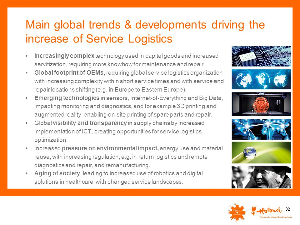 Main global trends & developments driving the increase of Service Logistics