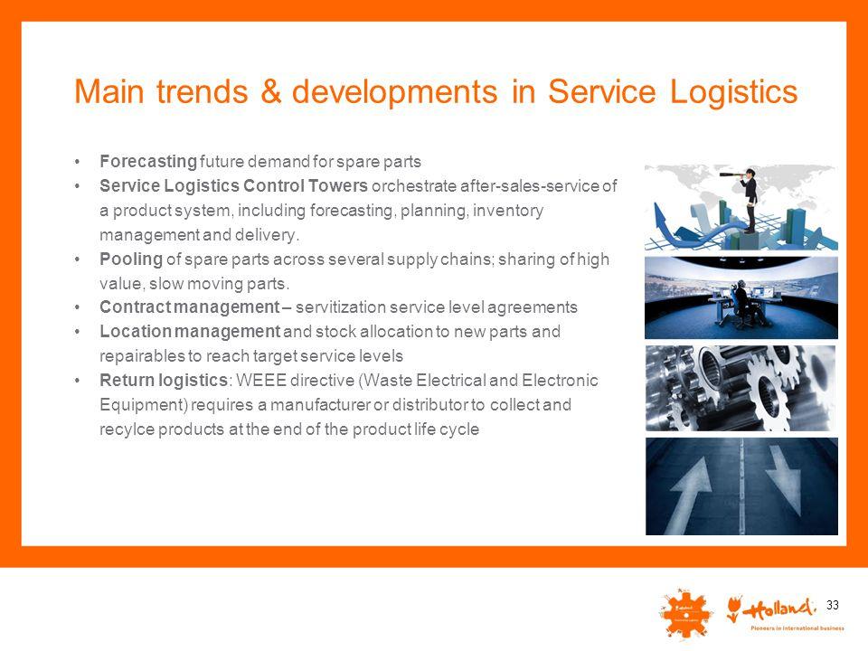 Main trends & developments in Service Logistics
