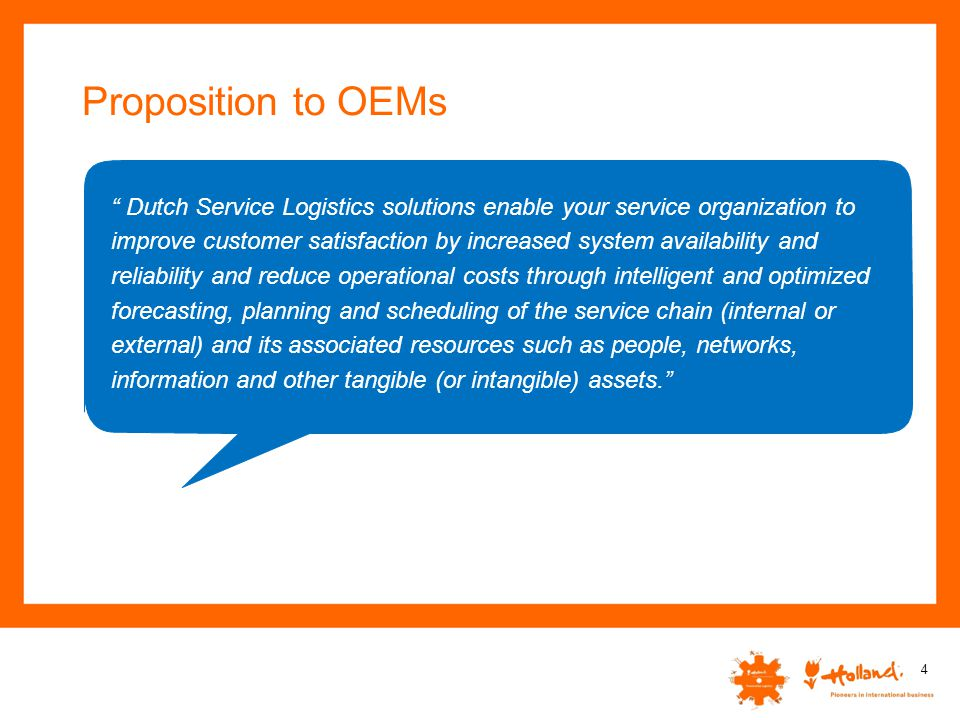 Proposition to OEMs