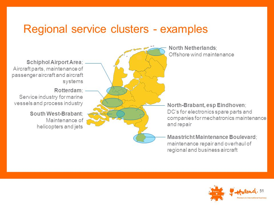 Regional service clusters - examples