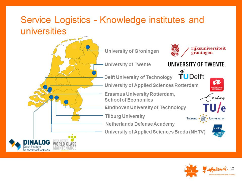 Service Logistics - Knowledge institutes and universities