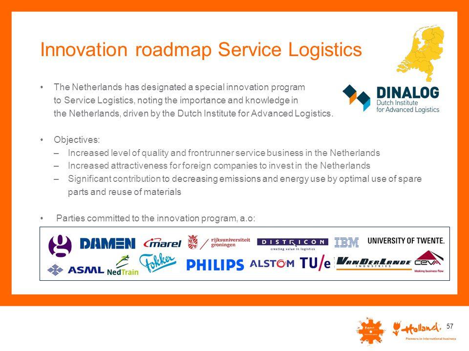 Innovation roadmap Service Logistics