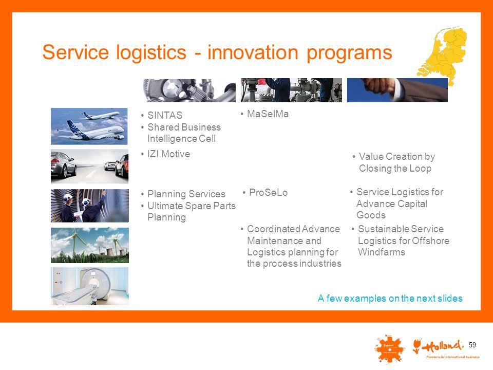Service logistics - innovation programs