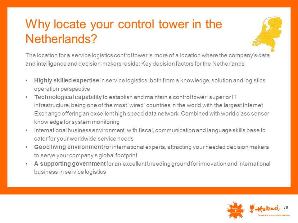 Why locate your control tower in the Netherlands