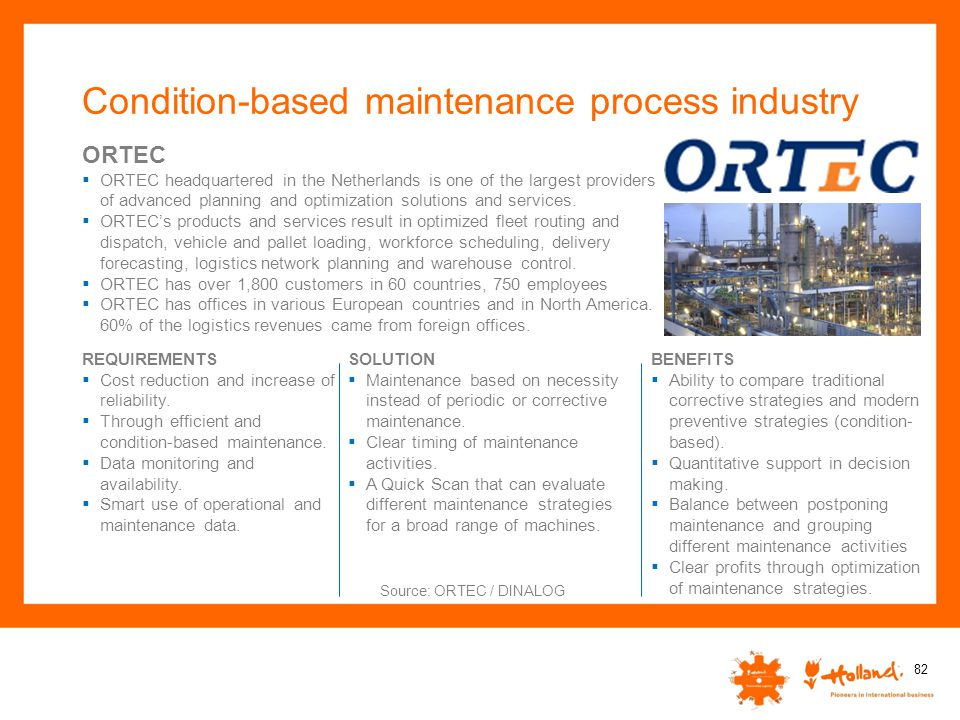 Condition-based maintenance process industry