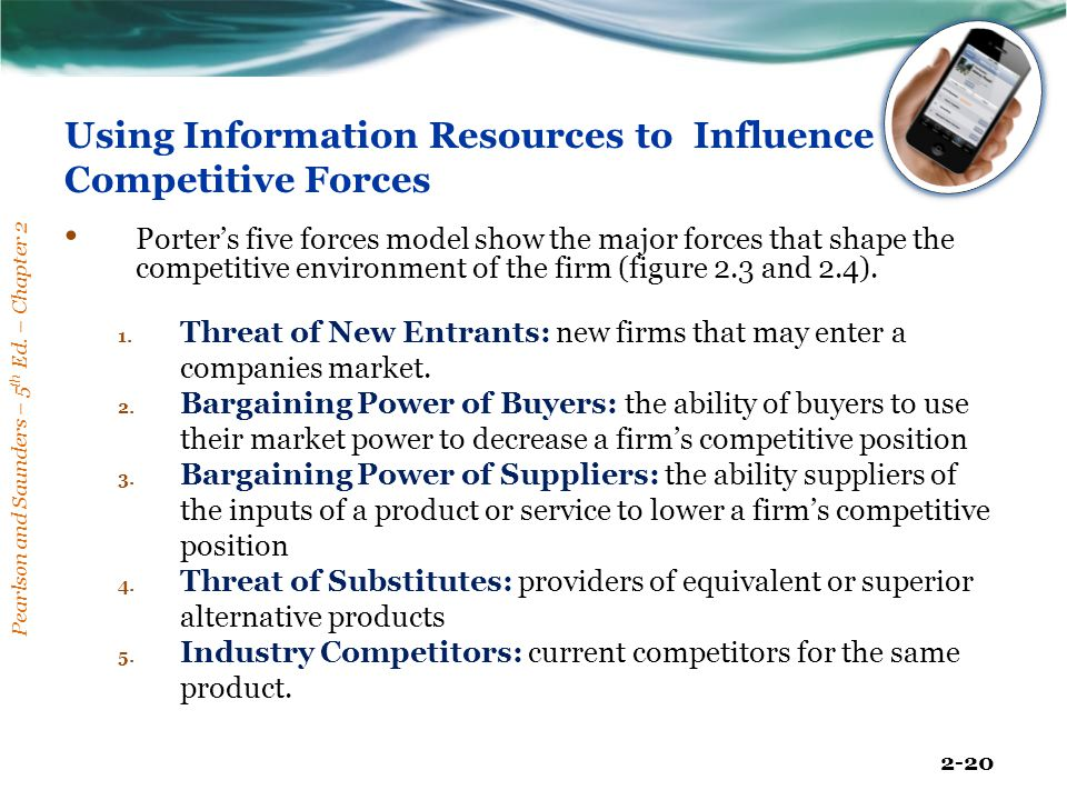 Using Information Resources to Influence Competitive Forces