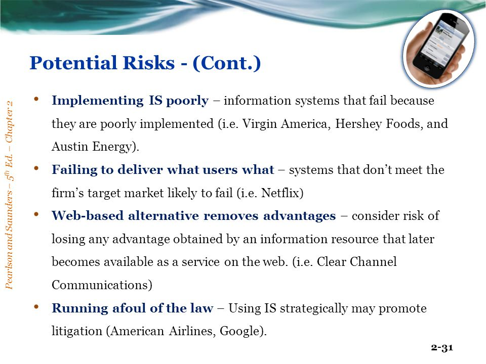 Potential Risks - (Cont.)