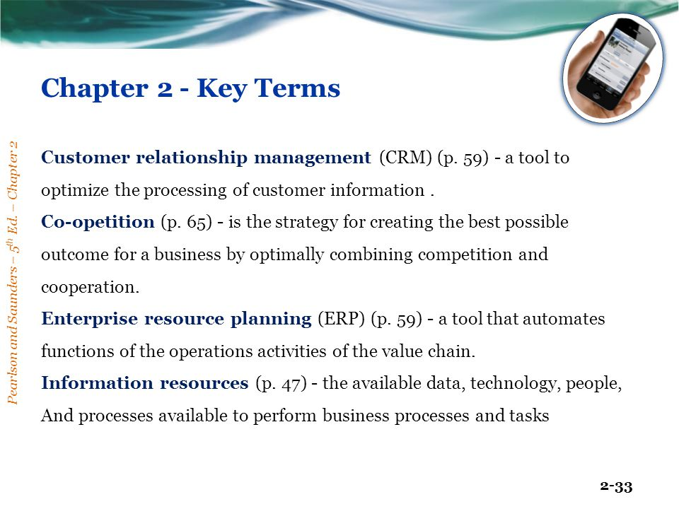 Chapter 2 - Key Terms