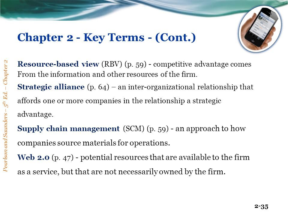 Chapter 2 - Key Terms - (Cont.)